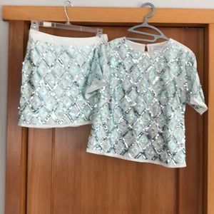 Sequin top and skirt  New!  With tags!